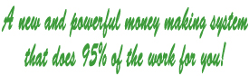 Website wealth does 95% of the work for you!